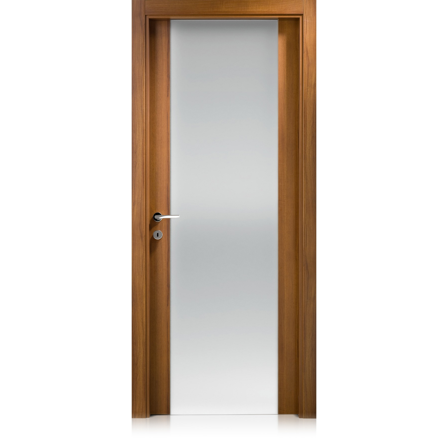 Liss Vetro Large noce door
