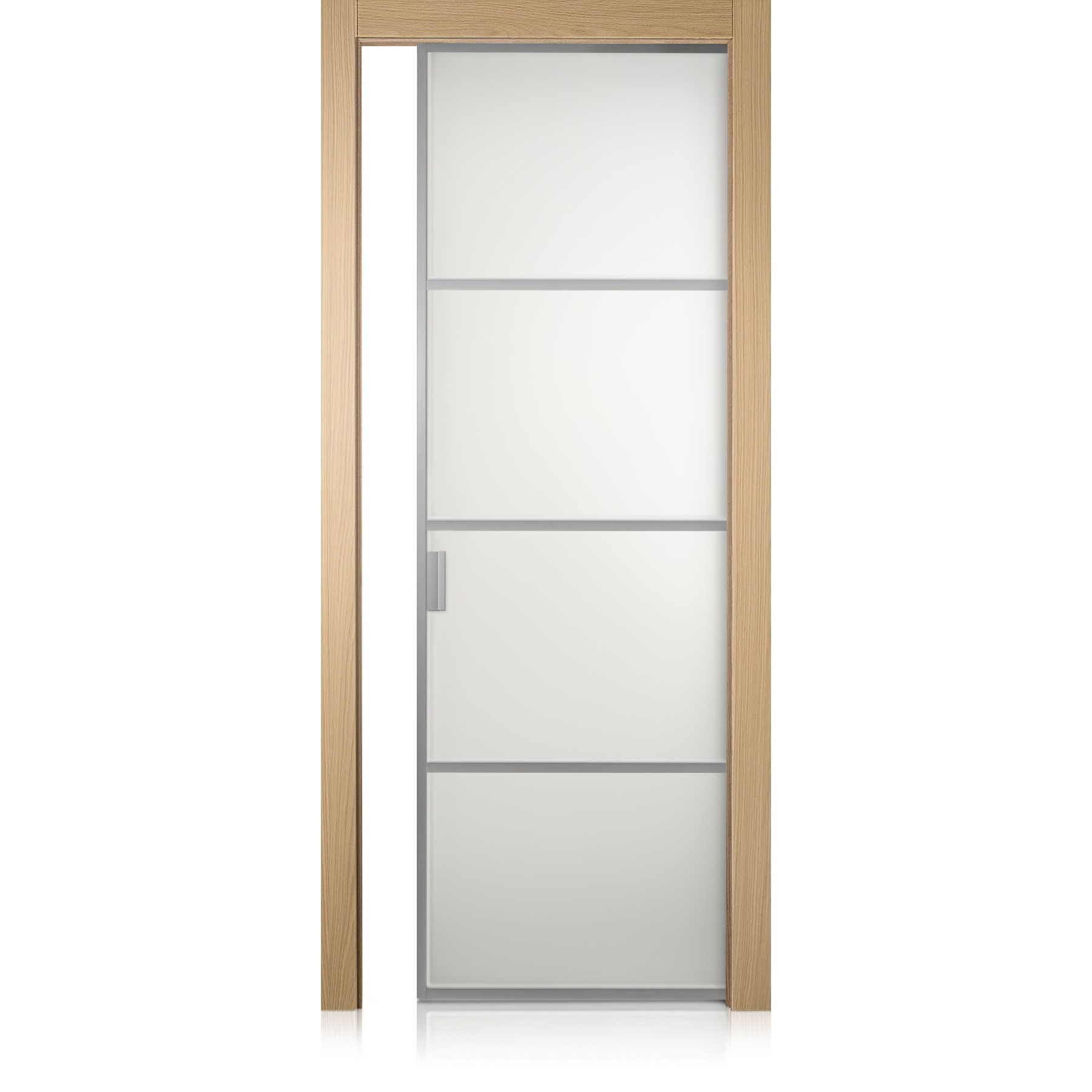 Cristal Frame / 3 rovere natural touch door