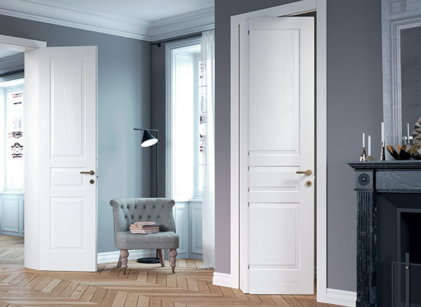 Lacquered wood doors